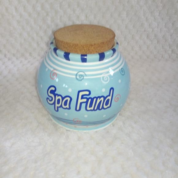 Other - Bella Casa by Ganz Spa Fund Cork Jar Bank Novelty